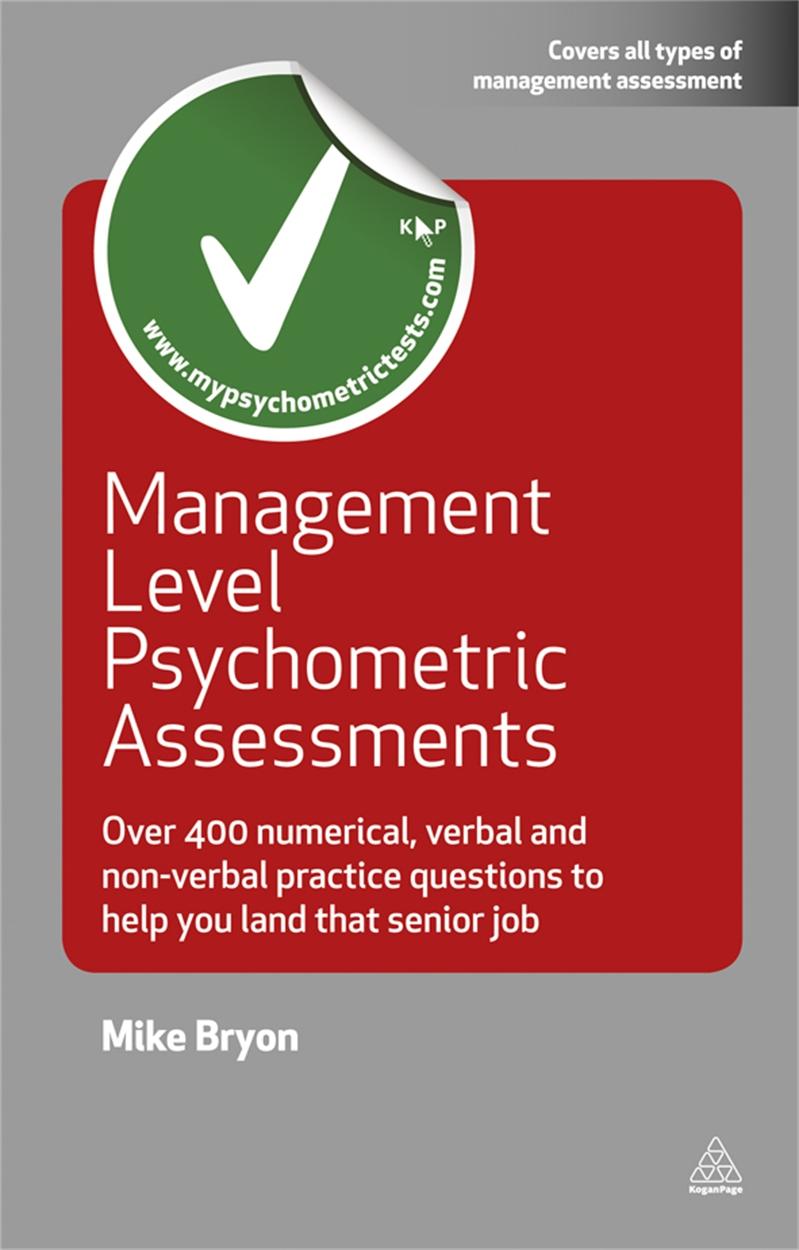 Management Level Psychometric Assessments (9780749456917)