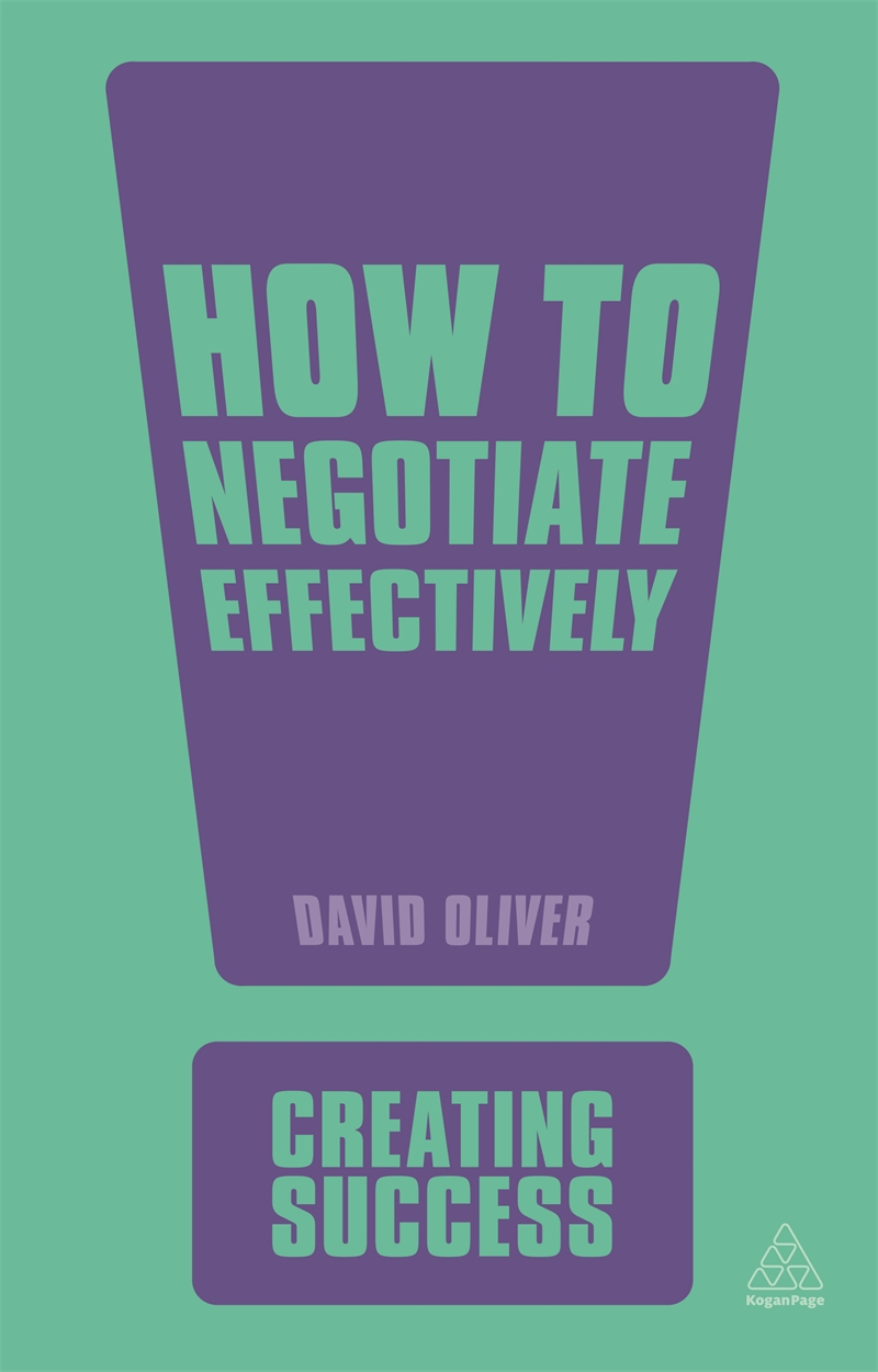 How to Negotiate Effectively (9780749461348)