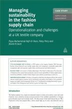 Case Study: Managing Sustainability in the Fashion Supply Chain